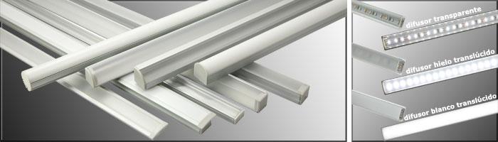 Perfiles de aluminio - Iluminacion tiras led ...