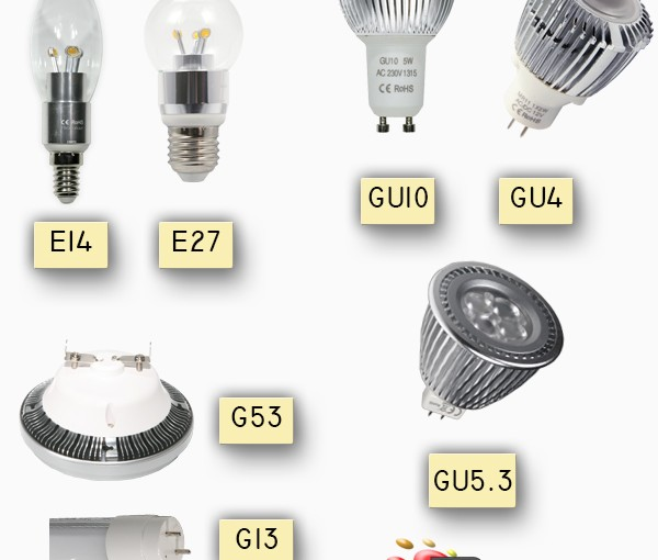 Microluz: Bombillas LED Casquillos