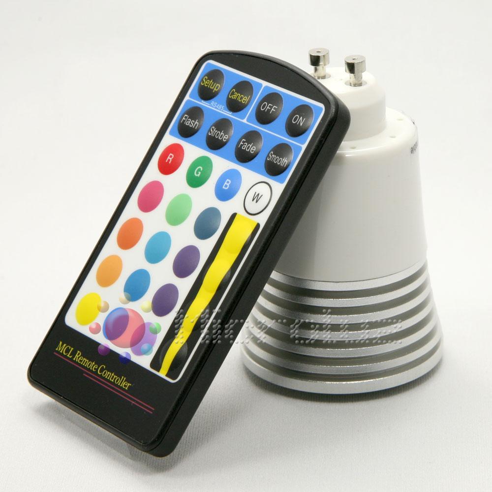 bombilla led colores gu10 mando a distancia