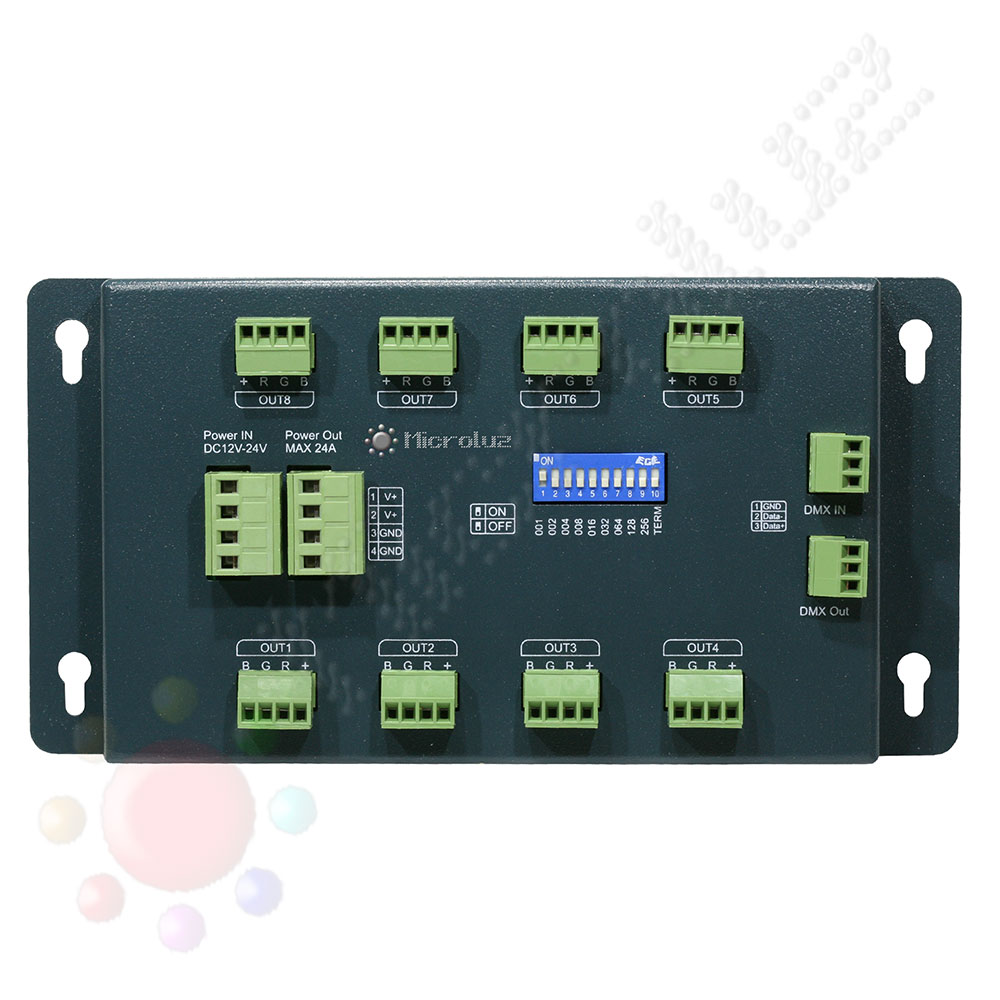 servidor dmx 24 canales de Microluz