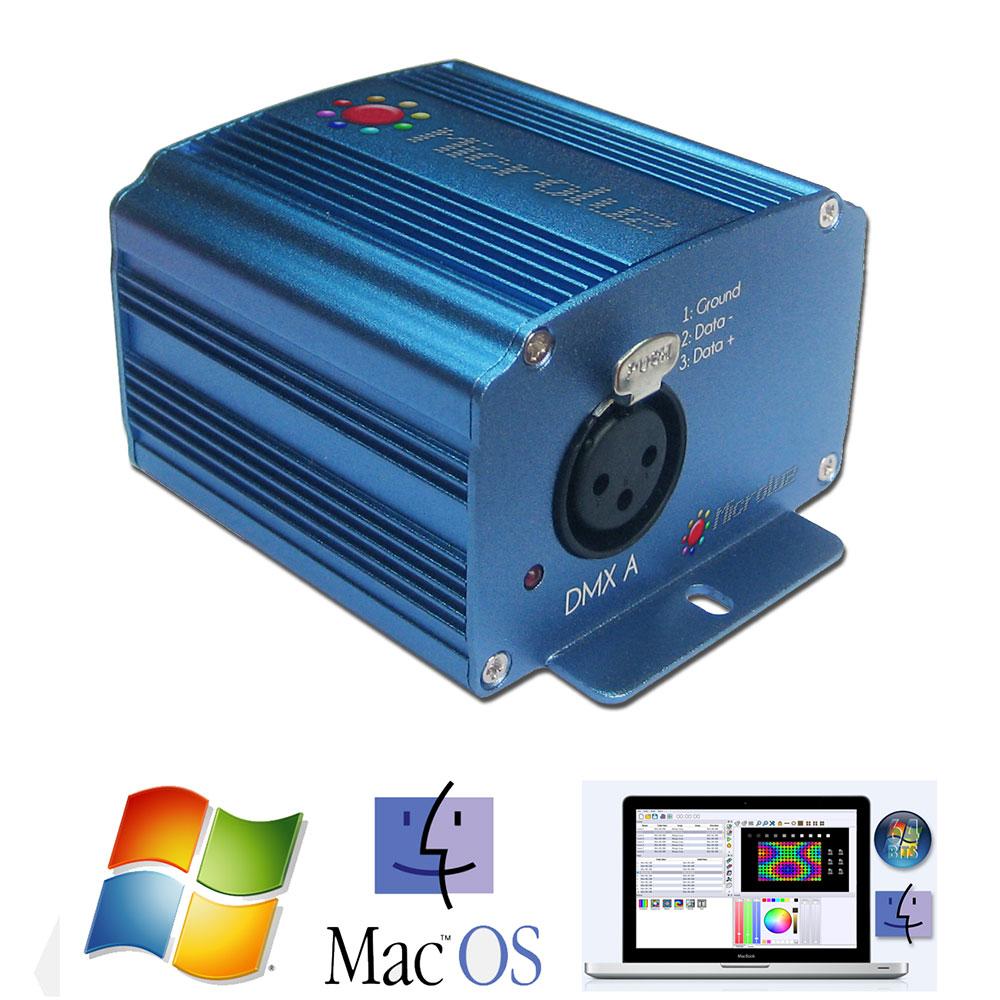 servidor dmx 512 de Microluz incluye software