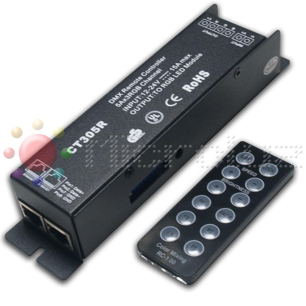 controlador led rgb dmx mando a distancia
