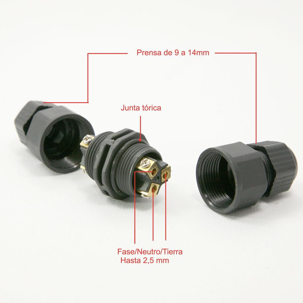 empalme estanco 2 conexiones led de Microluz