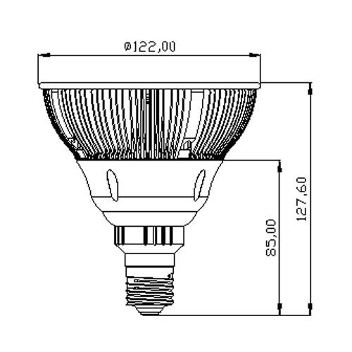 lampara led 15w par 38 blanco calido