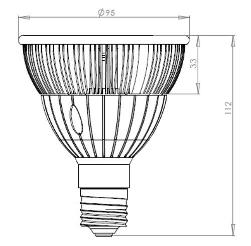 lampara led 15w par30