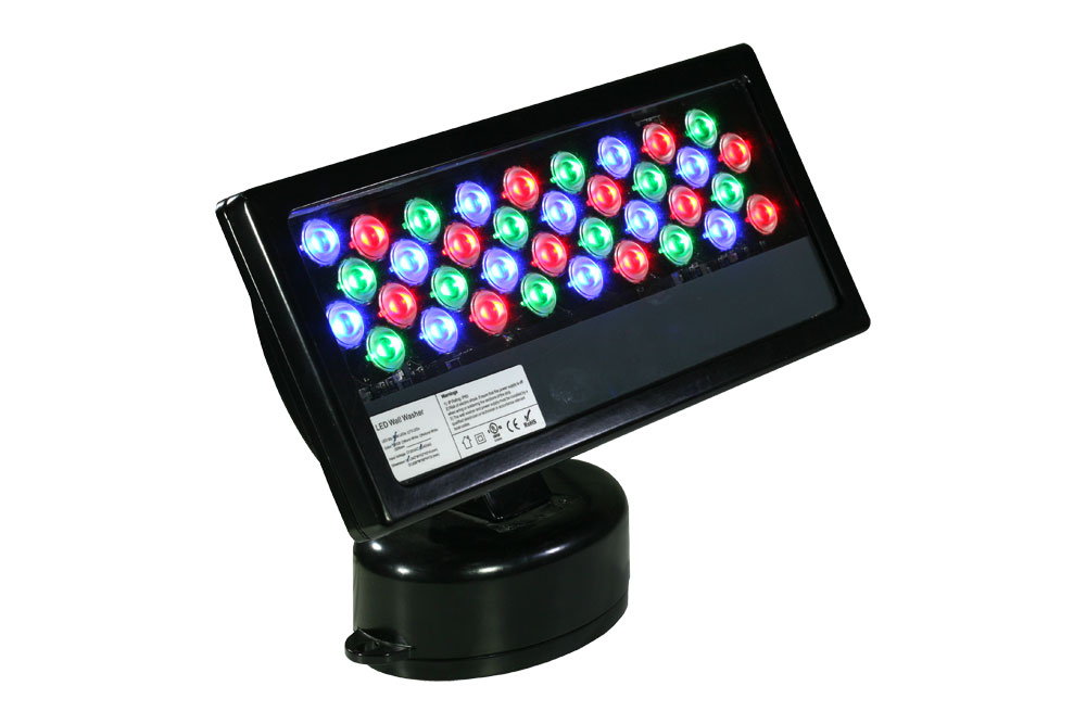 luminaria led exterior rgb 40w 220v de Microluz