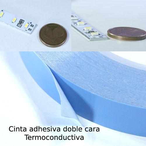 Tira de led aluminio 12v cinta blanco puro