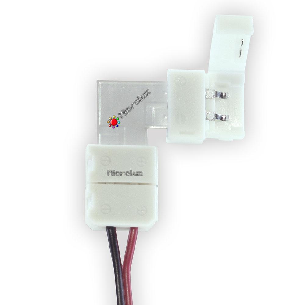 Conector tira led 8mm en L