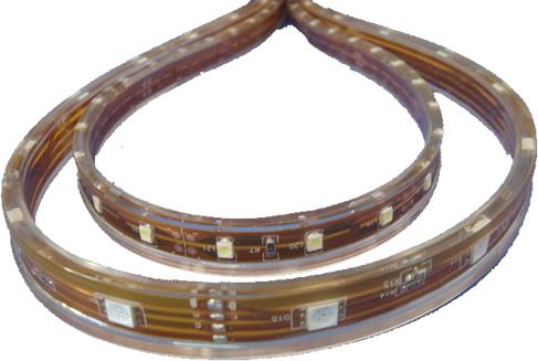 Tira de led 12V Impermeable blanco puro encendida