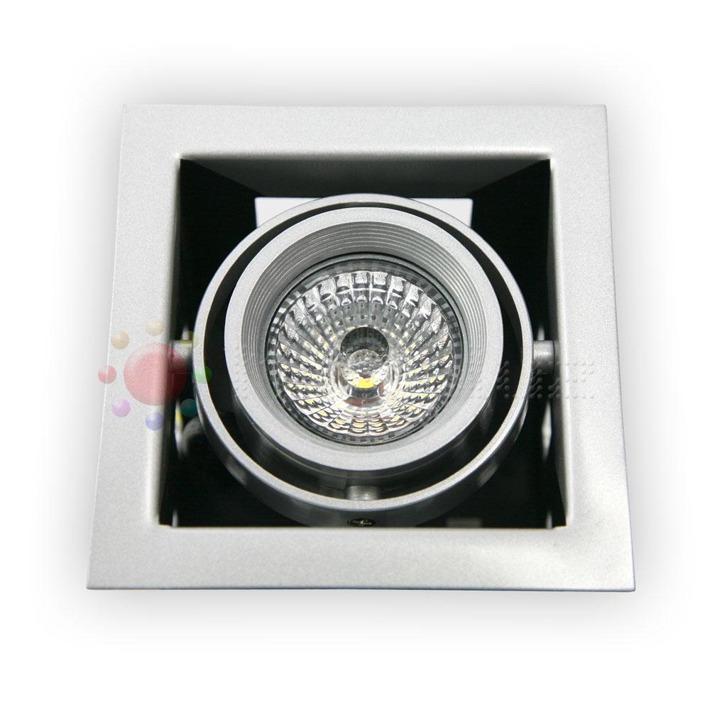 Downlight LED GRIS orientable 12W Blanco Puro