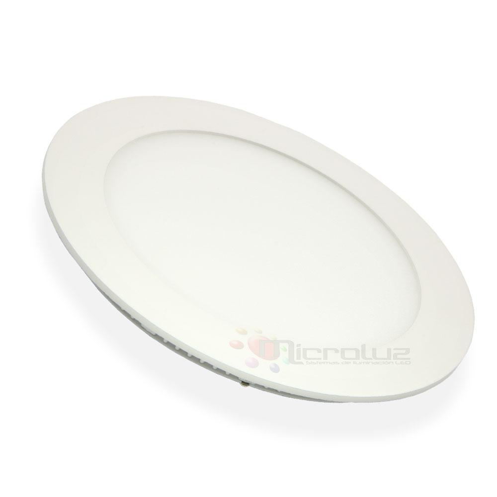 Downlight LED circular empotrable blanco día 12W