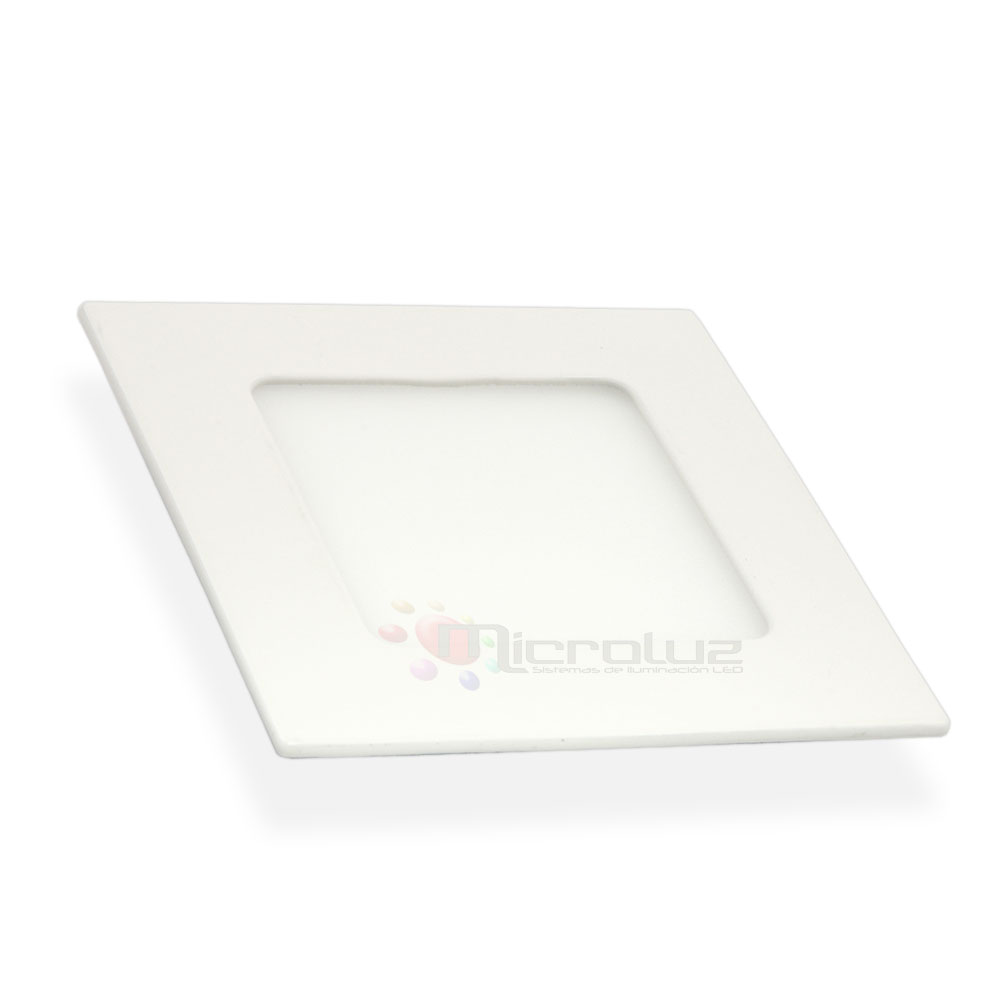 Downlight LED cuadrado empotrable blanco día 6W
