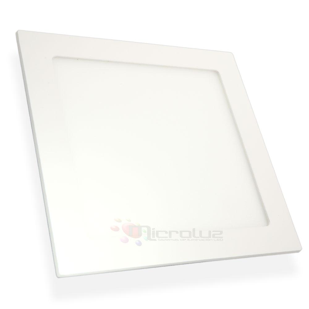 Downlight LED cuadrado empotrable blanco día 18W