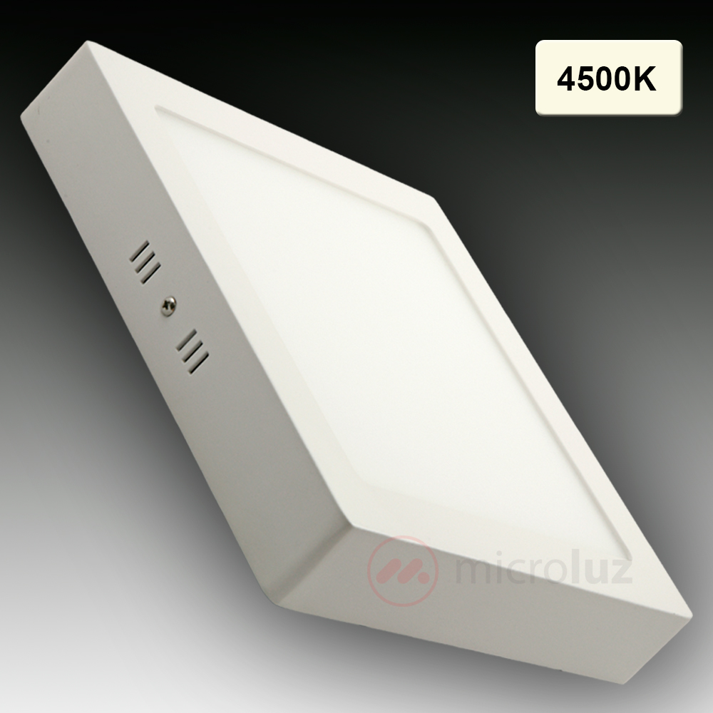 Downlight LED cuadrado superficie 4500K 18W