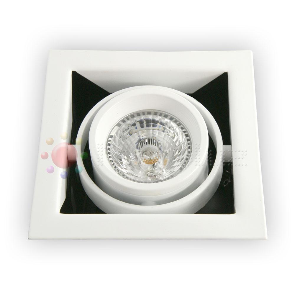 Downlight LED Blanco orientable 12W Blanco Puro
