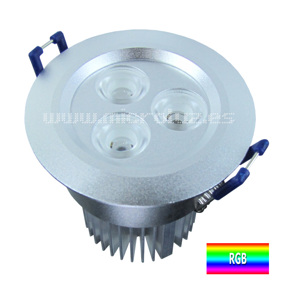 Downlight empotrable 9W RGB