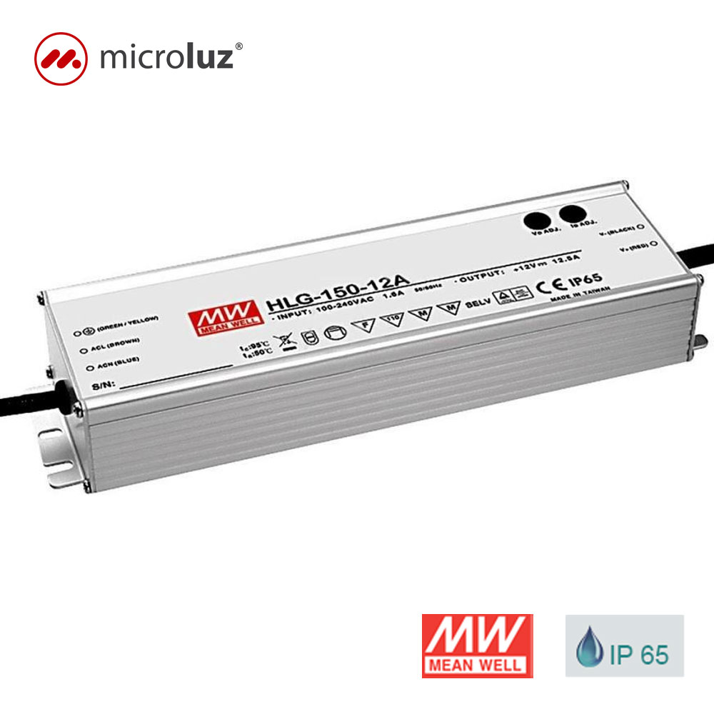 Fuente de Alimentación 12V 150W 12,5A IP 65 Mean Well