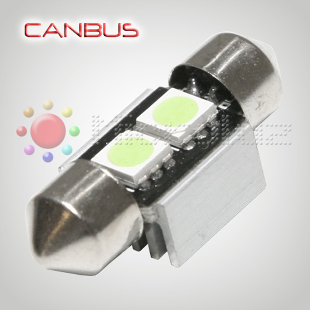Bombilla LED Festoon C5W 31mm 2 SMD5050 Canbus