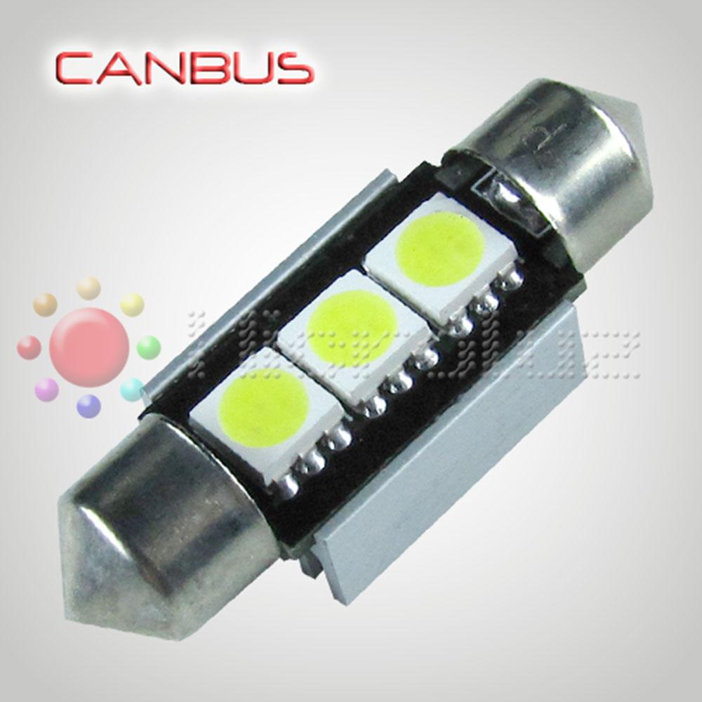 Bombilla LED Festoon C5W 36mm 3 SMD5050 Canbus