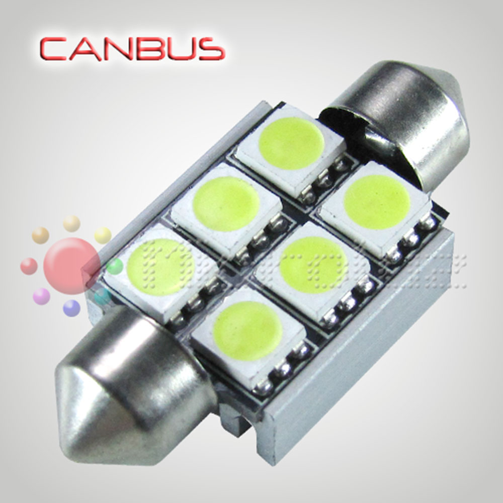Bombilla LED Festoon C5W 36mm 6 SMD5050 Canbus