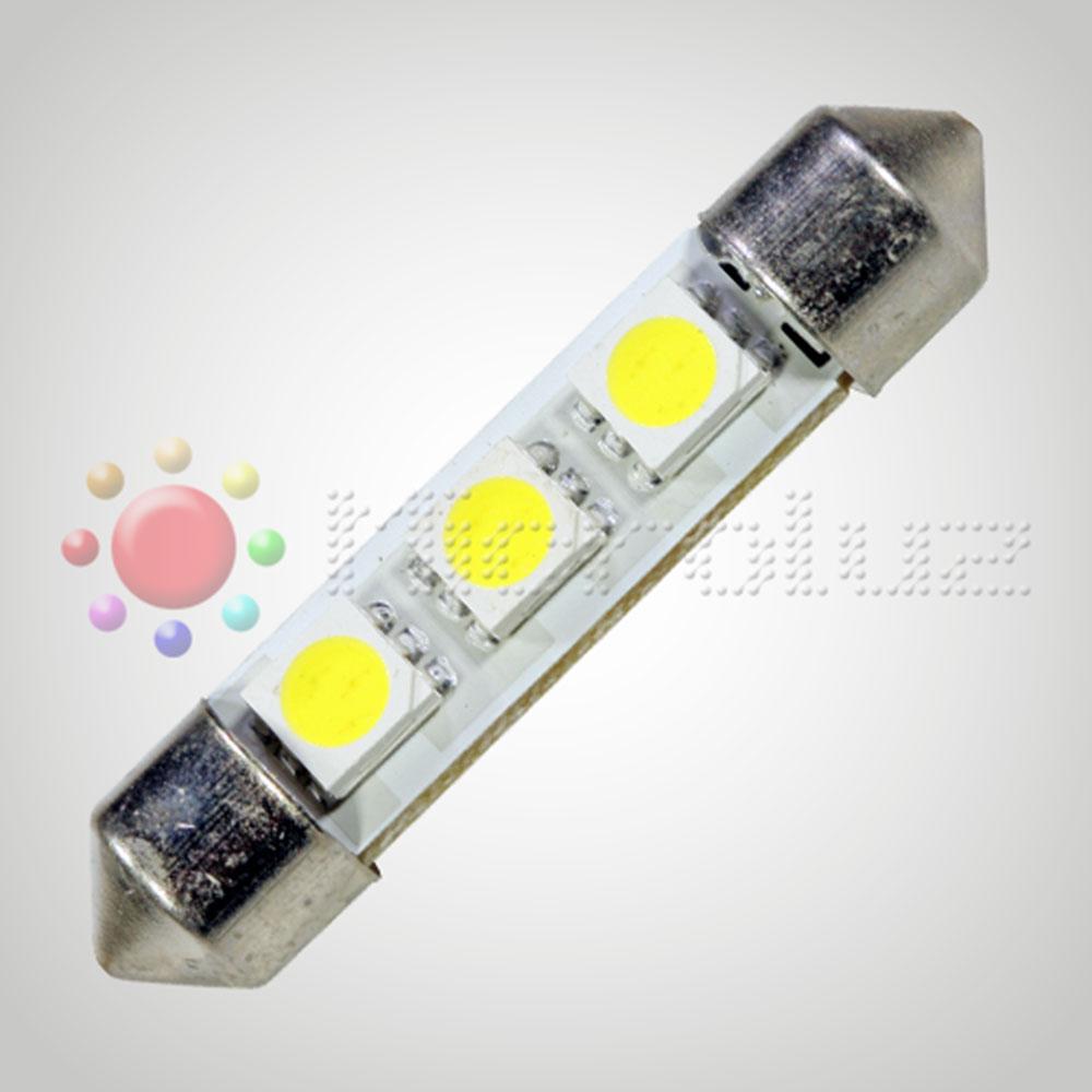 Bombilla LED  C5W 42mm 3 LED SMD5050 Blanco Xenón