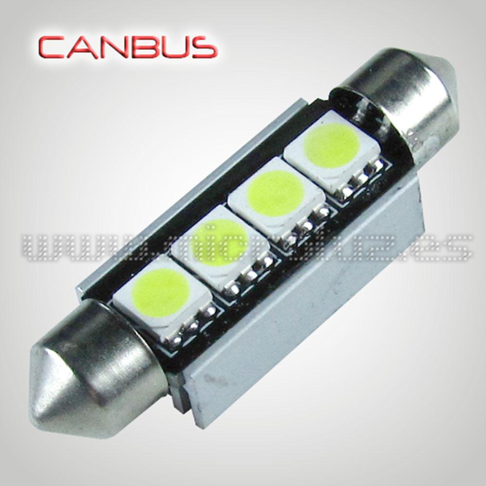 Bombilla LED Festoon C5W 42mm 4 SMD5050 Canbus