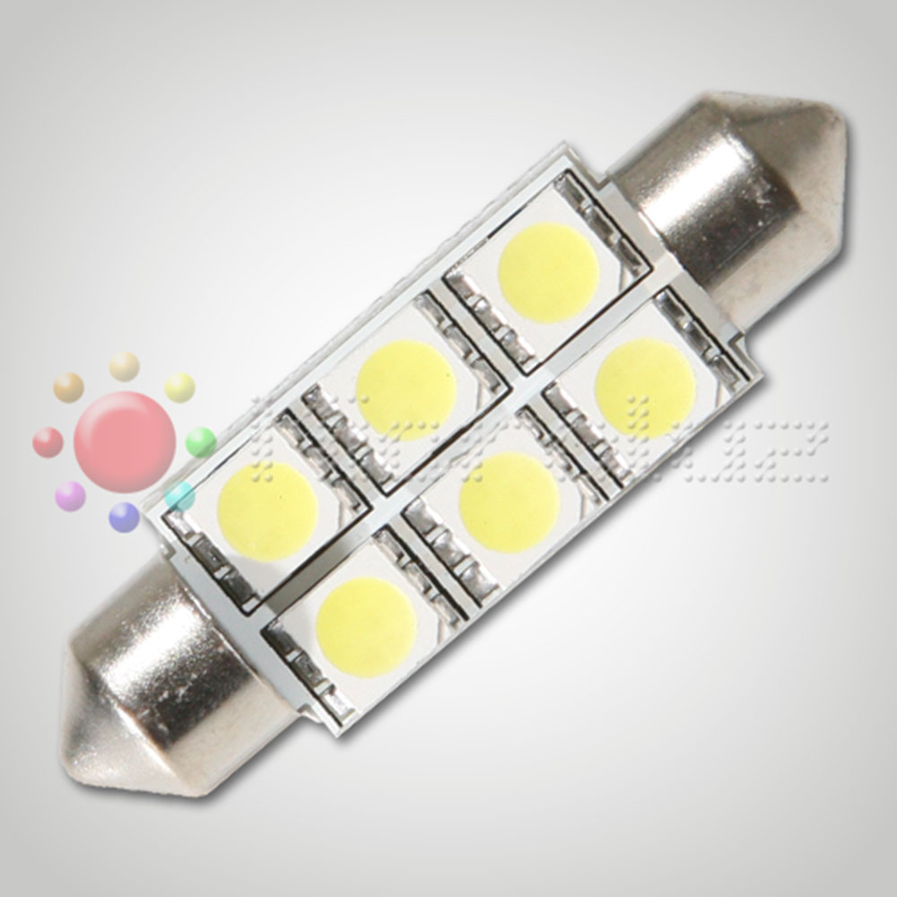 Bombilla LED  C5W 39mm 6 LED SMD3528 Blanco Xenón