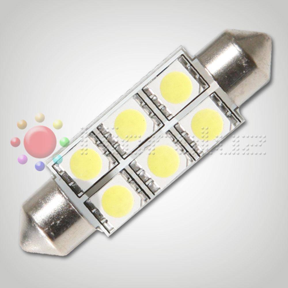 Bombilla LED  C5W 42mm 6 LED SMD5050 Blanco Xenón