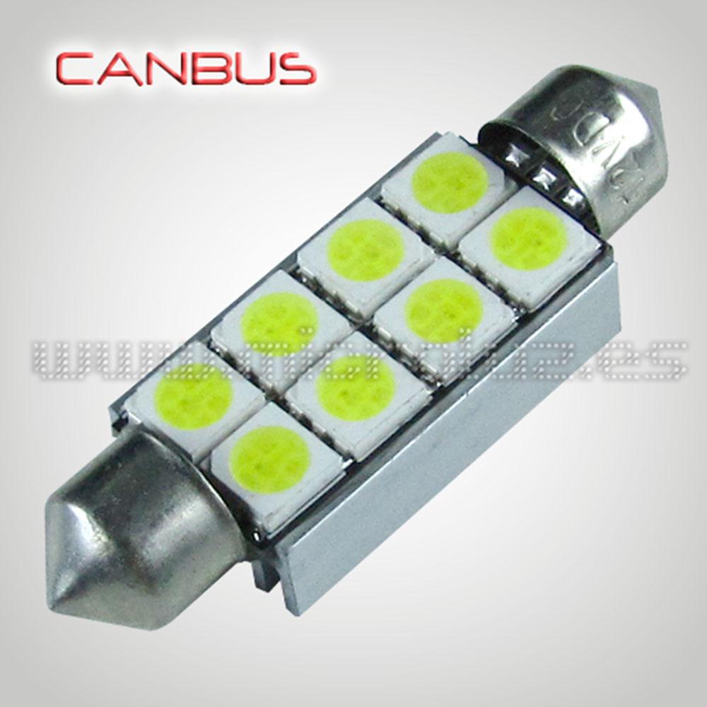 Bombilla LED Festoon C5W 42mm 8 SMD5050 Canbus