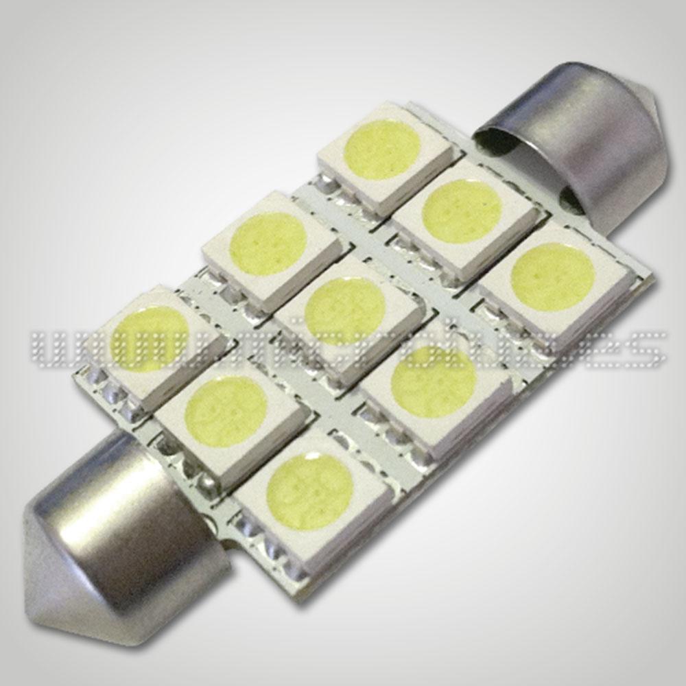 Bombilla LED  C5W 42mm 9 LED SMD5050 Blanco Xenón