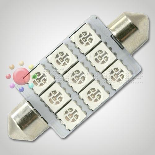 Bombilla LED  C5W 42mm 9 LED SMD5050 Azul