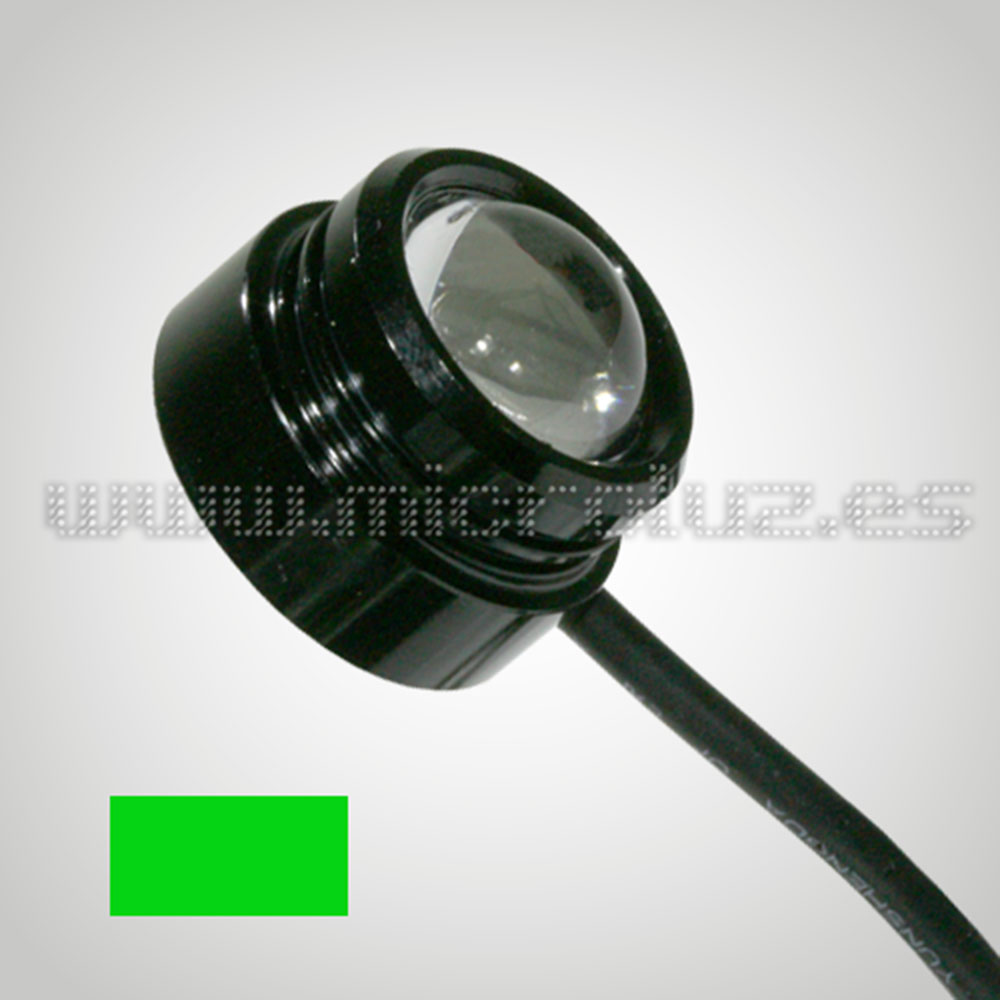 LED Domo 2W con Lente color Verde