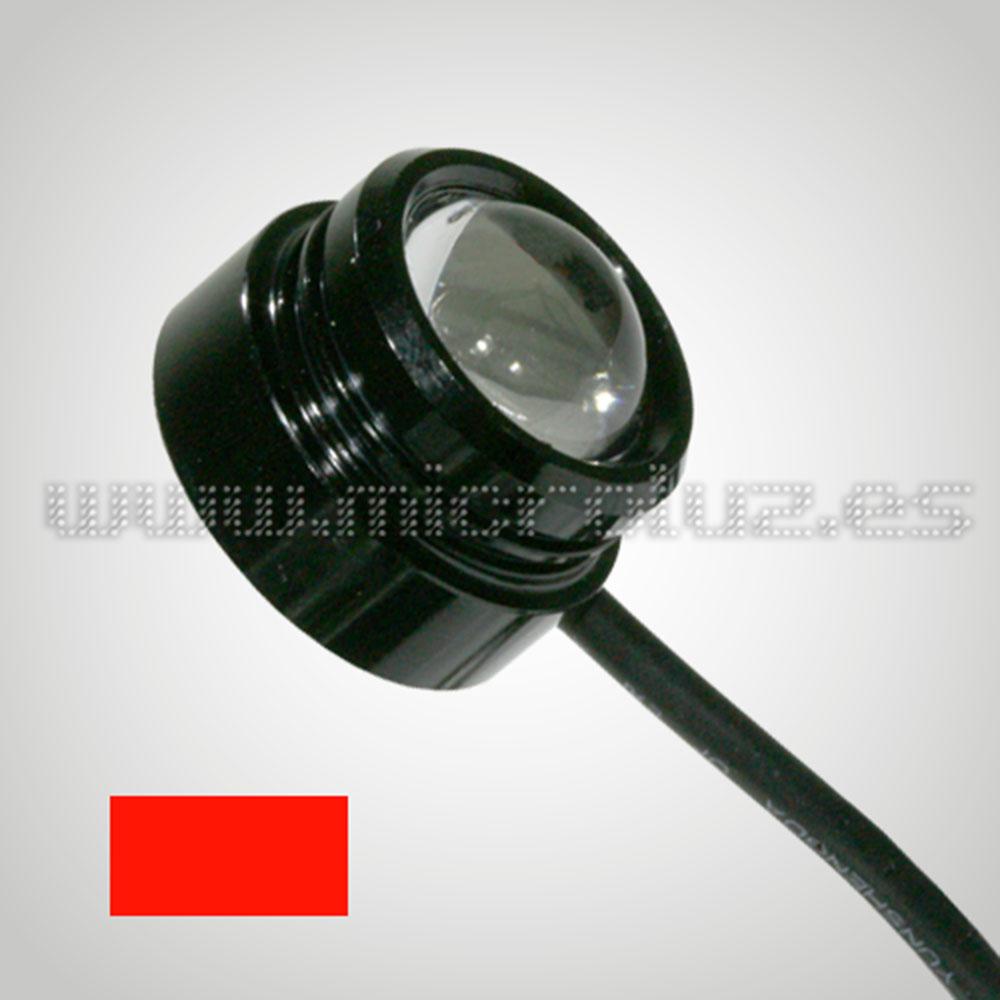 LED Domo 2W con Lente color Rojo