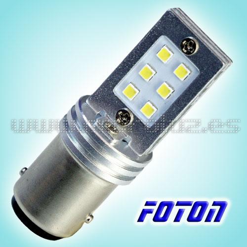 Bombilla LED P21/5W 12 SMD3030 FOTON Blanco Xenon