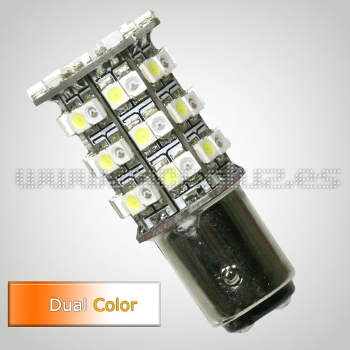 Bombilla LED P21/5W 54 SMD3528 Doble Color Blanco/Ambar