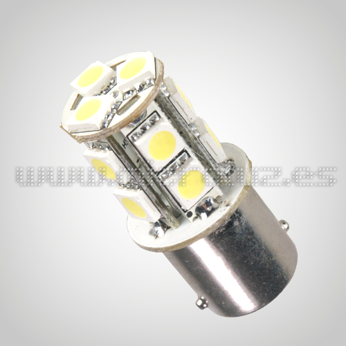 Bombilla LED P21,5 13 SMD5050 LEDs BLanco Xenon 2.6W