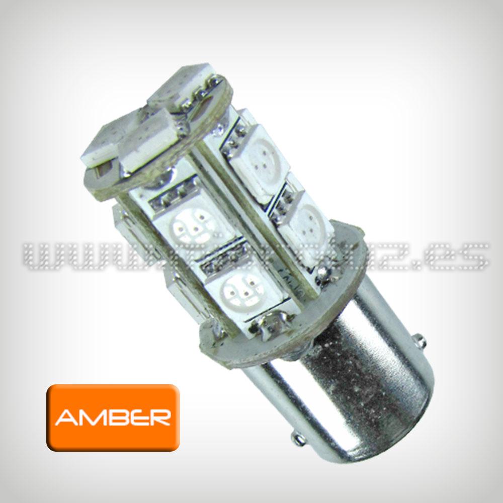 Bombilla LED P21 13 SMD5050 LEDs Ambar 2.6W