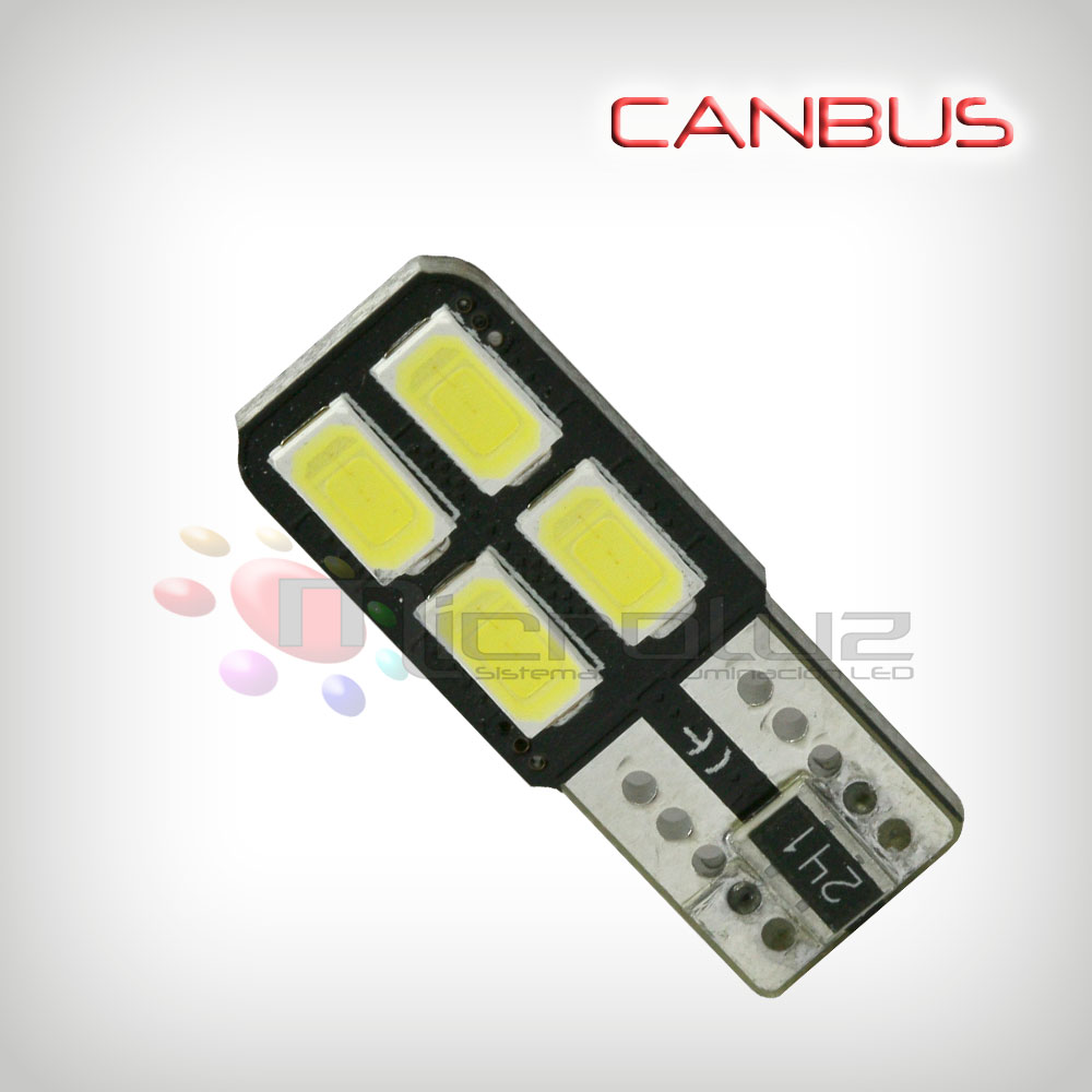 Bombilla 4 LED SMD 5630 one side 120º Blanco Xenon Canbus