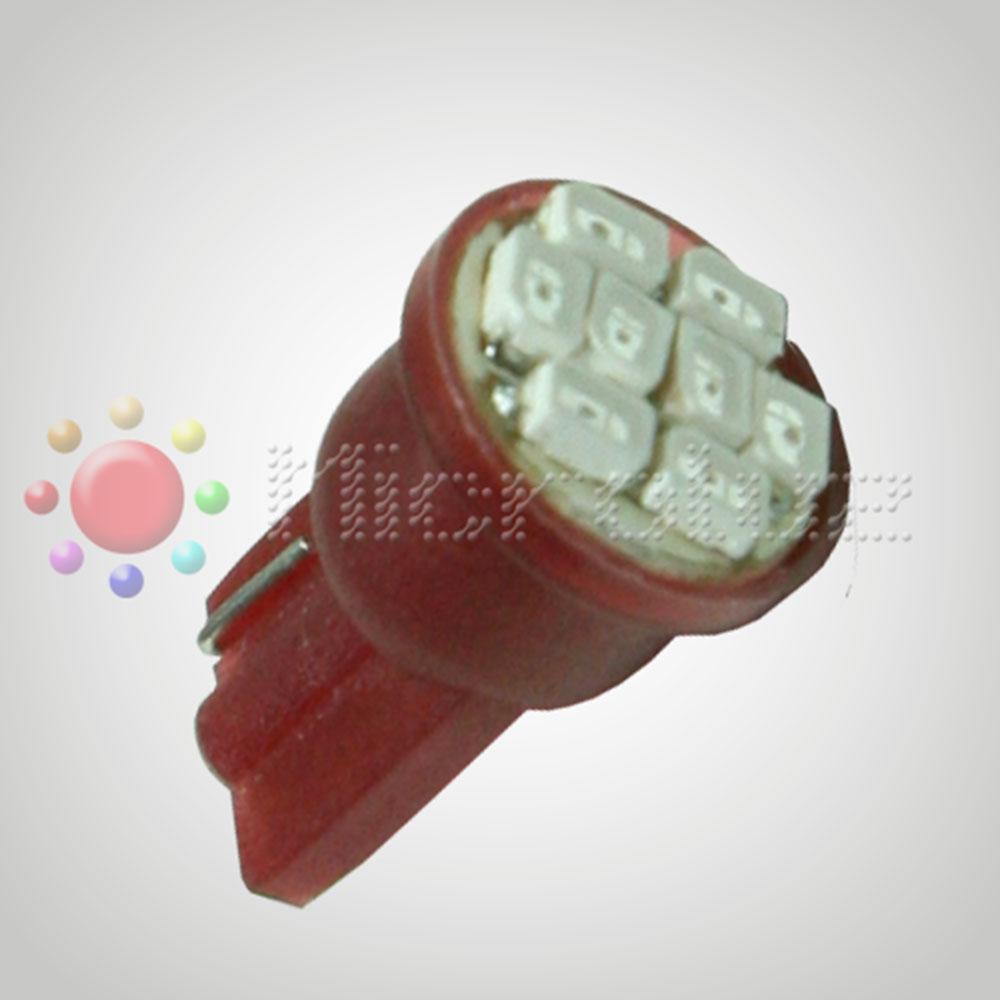 Bombilla LED T-10 W5W 8 Leds 1210 Rojo