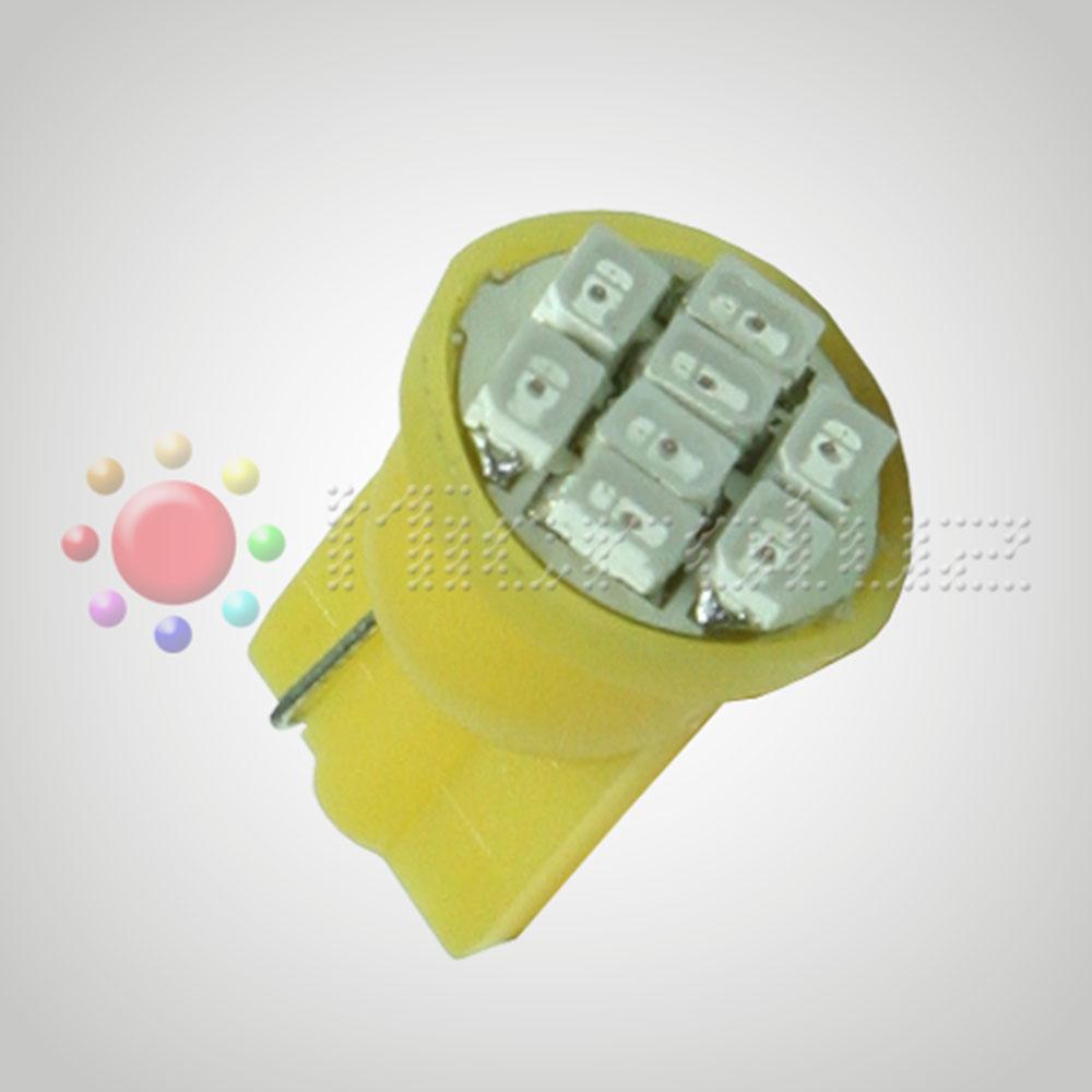 Bombilla LED T-10 W5W 8 Leds 1210 Ambar