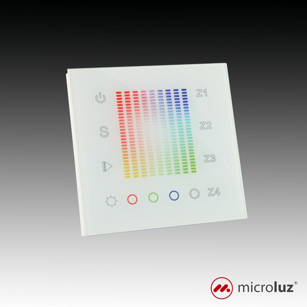 Controlador táctil RGB de pared RF y DMX con selector de color