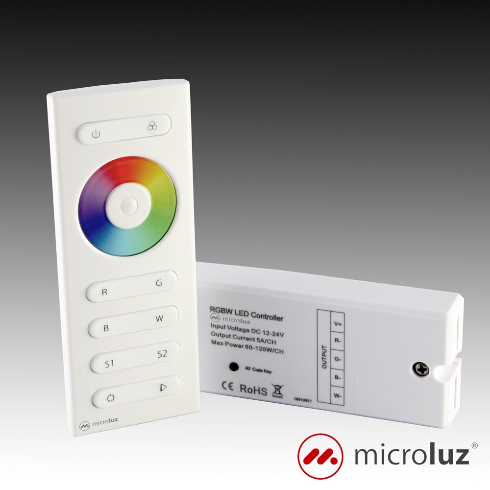 Controlador mando a distancia + receptor RGB