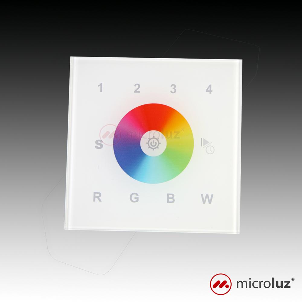 Controlador táctil RGB de pared RF y DMX