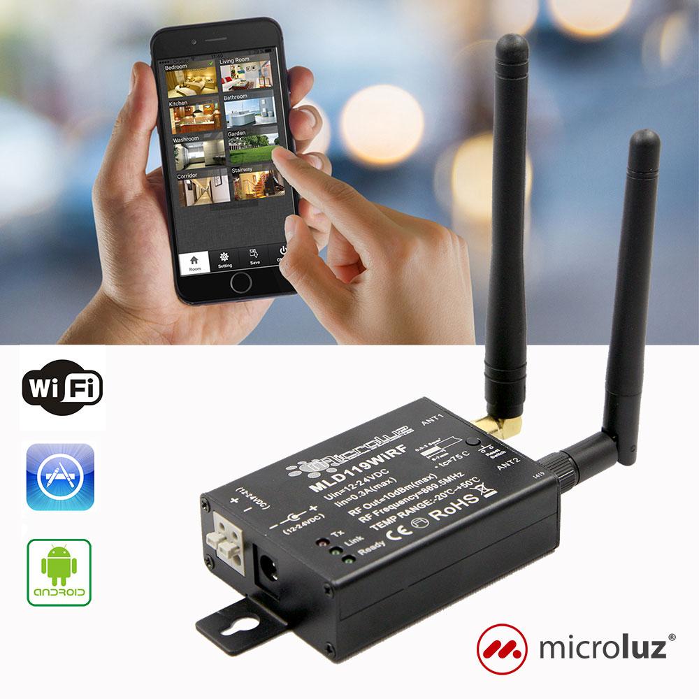Interface WiFi-RF para iOS/Android 8 zonas - MLD119