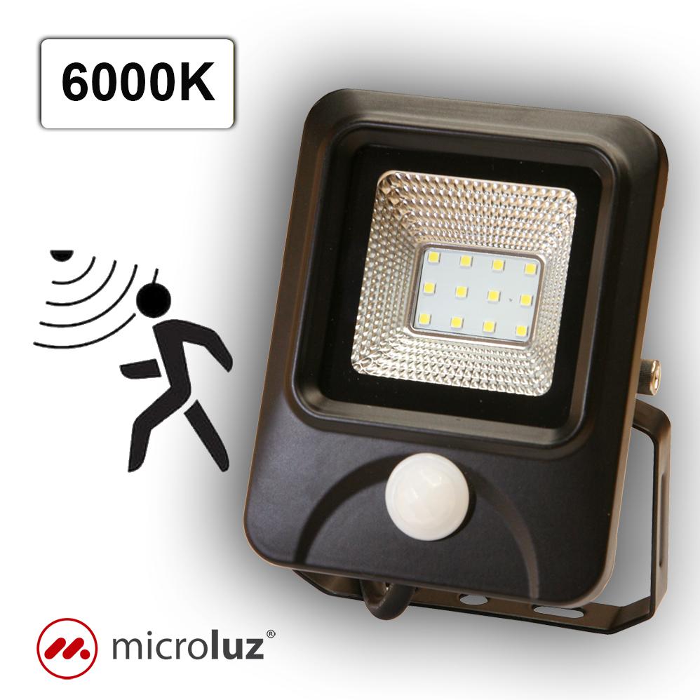 Proyector LED con detección de Movimiento 10W Blanco Frío
