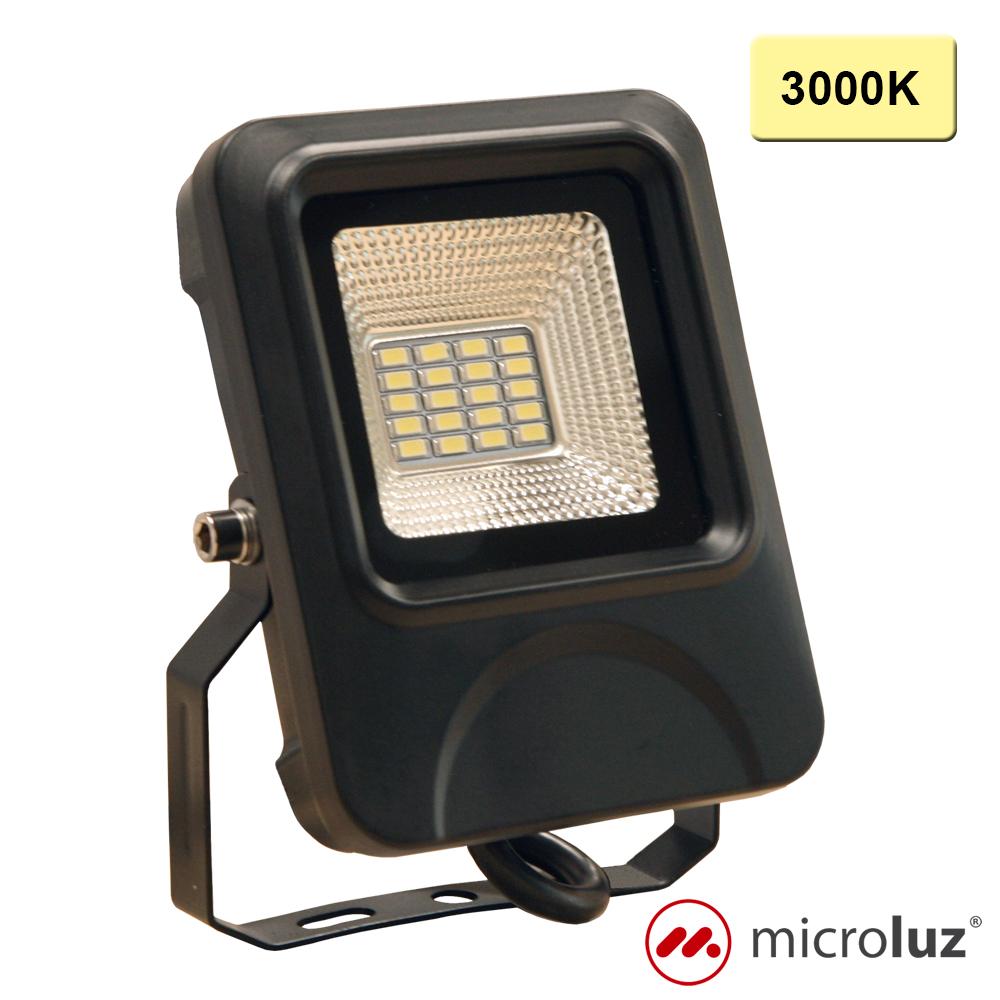 Proyector LED SMD 10W Blanco Cálido