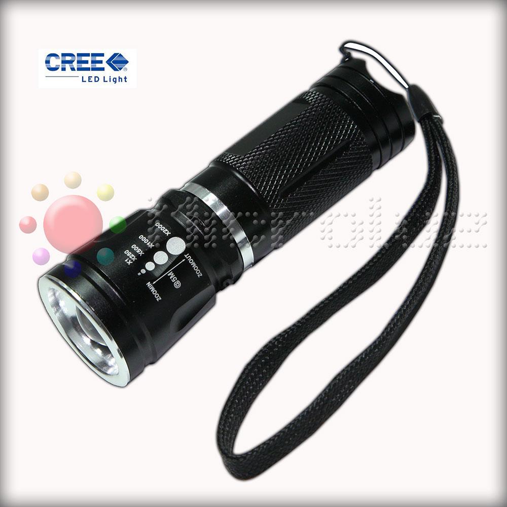 Linterna LED CREE 3W ZOOM Alta Potencia