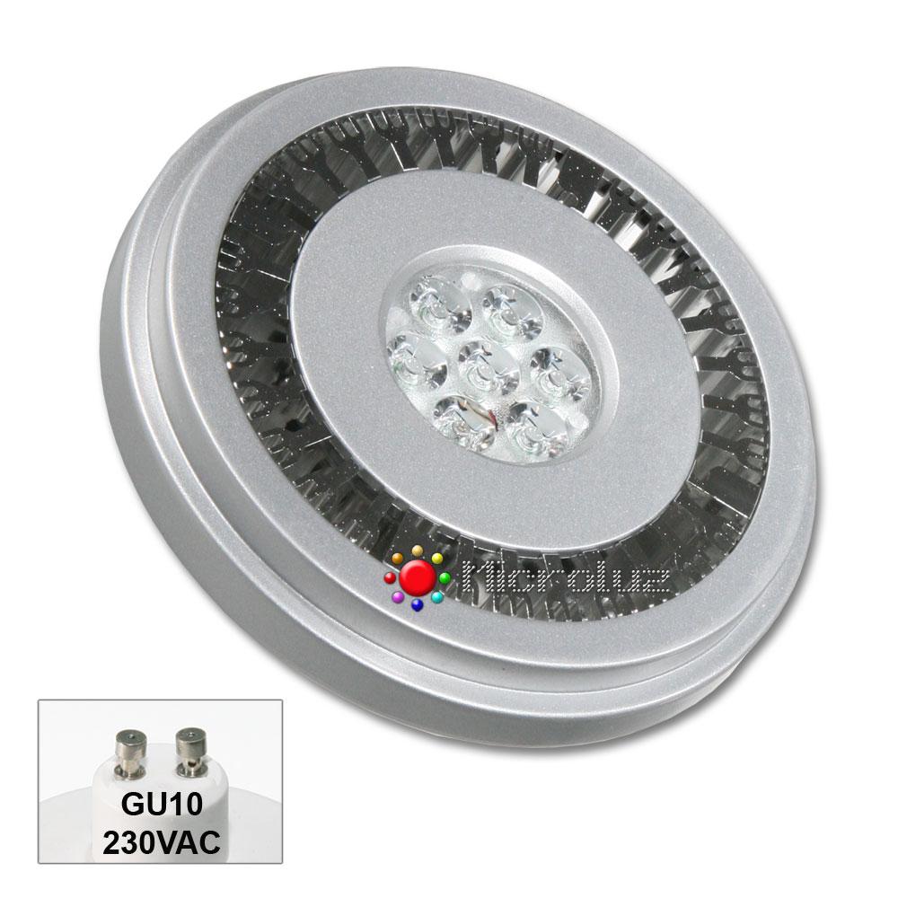 Bombilla LED QR-111 GU10 12W 230VAC Blanco Cálido 540Lm