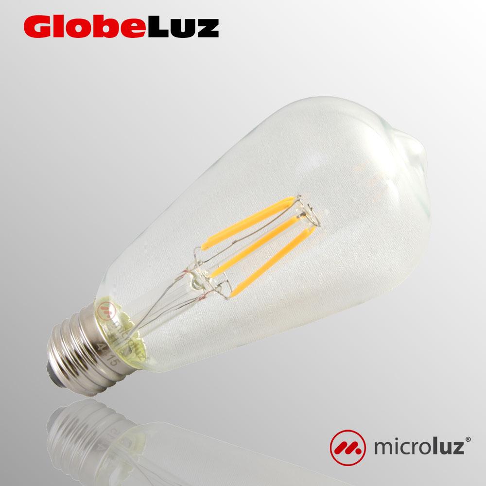 Bombilla LED Filamento tipo pera 6W E27 ST64