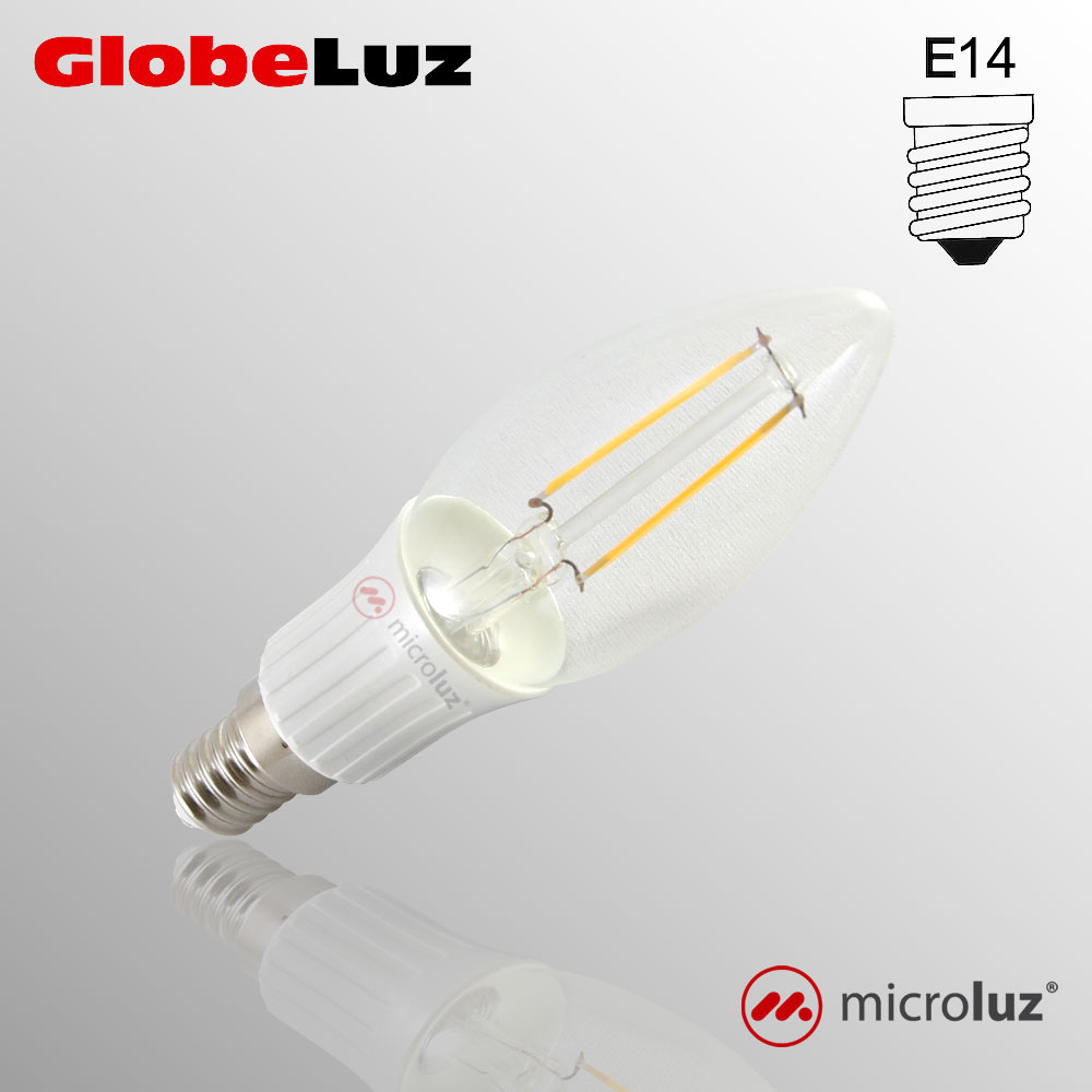 Bombilla filamento LED E14 3W